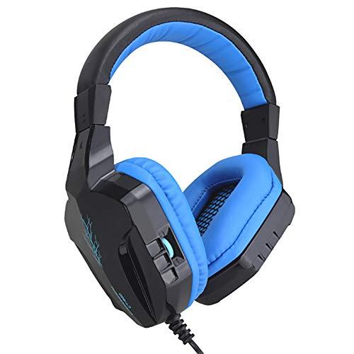 T&SHY Desktop-PC-Gaming-Headset, 50MM-Laufwerk verborgenes Rauschunterdrückungsmikrofon 3,5-mm-Stecker große Ohrenschützer tragen Bequeme elektronische Sportkopfhörer,Black