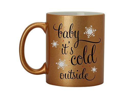 PG COUTURE Sein Kaltes Äußeres Keramisches Becherkaffeetasse-Teebechergeschenk 11 Unze D-Form Griffbecher (Impact Kalte Design Tasse)