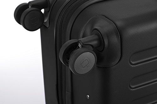 HAUPTSTADTKOFFER® Hartschalen Koffer SPREE 1203 · NEU 4 Doppel-Rollen · MATT · TSA Zahlenschloss · + KOFFERANHÄNGER (Schwarz, Set) - 8