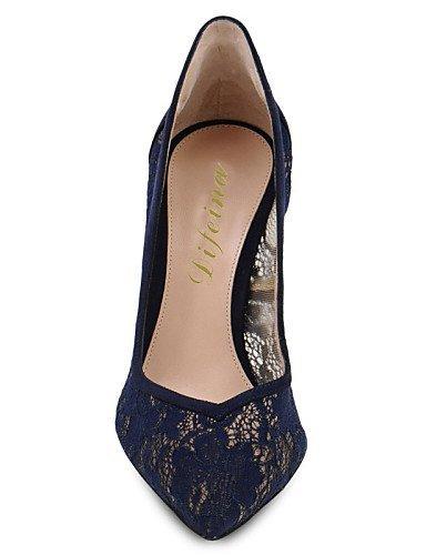 Sapatos Salto E Apontou Altos Saltos Partido Casual Azul Festividades Shangyi Bicudos Senhoras Estilete Azul Fleece Saltos Sapatos Vestido 7wxn6qCS