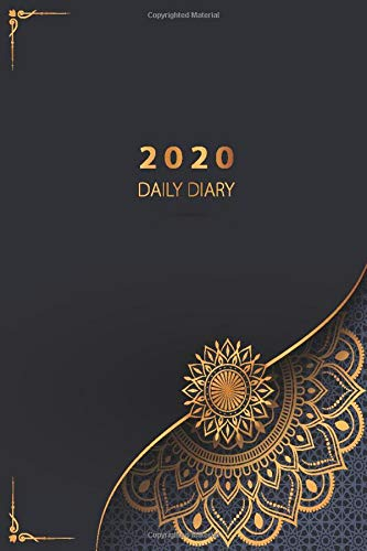 2020 Daily Diary: At a Glance 2020 | Monthly Calendar with Federal Holidays | Page a Day for all 366 days of the year | Daily Planner Full Page a Day | Luxury Gold Mandala Design