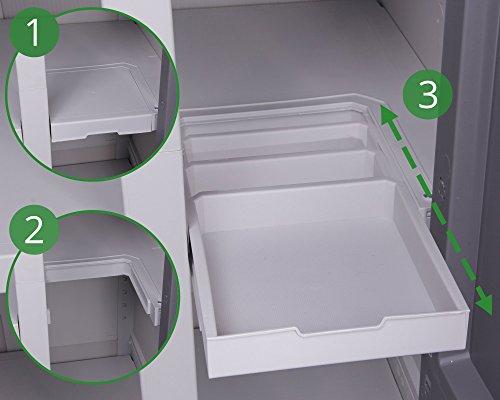 Keter Optima Set aus Schrank und Beistellschrank Outdoor Mehrzweckschrank Kunststoffschrank Spind wetterfest - 5