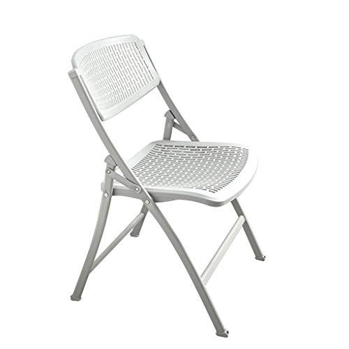 Stapelbarer Klappbarer Bürostuhl, Hohle ABS-Rückenlehne Und Sitzfläche, Stahlrohrgestell, Kunststoff-Campingstuhl Mittlerer Rückenlehne For Gartenhochzeitsfeier Freien, 83 Cm X 44 Cm X 44 Cm