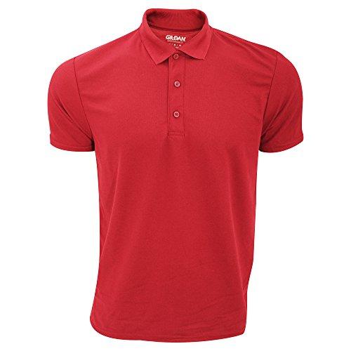 Gildan Herren Performance Sport Double Pique Polo-Shirt Rot