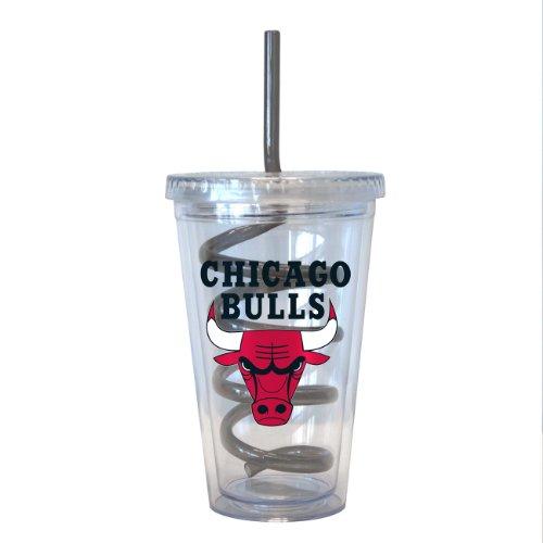 Boelter Brands NBA Chicago Bulls Trinkbecher mit Strohhalm, 473 ml