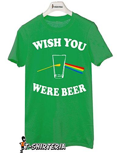 Tshirt Wish you were beer - pink floyd - dark side of the moon humor birra Tutte le taglie by tshirteria