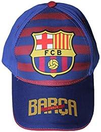 fc barcelone-casquette fc barcelone-bleu rouge jaune-garçon ou fille