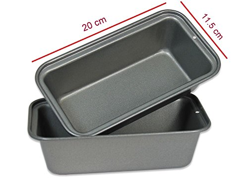 Royals Medium Non Stick Carbon Steel Baking Tray, Loaf pan, bread mould-...