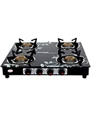 Suryajwala GT04 CAST Iron Royal 4 Burner Black Design Manua