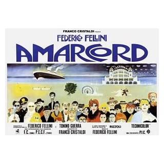Federico Fellini Amarcord Huge Vintage PAPER Movie Poster Measures 40 x 27 Inches (100 x 70 cm ) approx