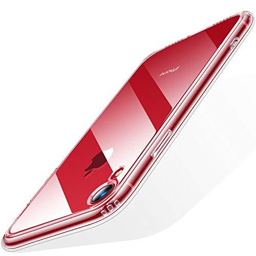 TORRAS HD Klar iPhone XR Hülle mit Panzerglas [1 Hülle+1 Panzerglas] Anti-GelbTransparent Dünn iPhone XR Handyhülle Case Hard PC Back Soft TPU Bumper Slim SchutzhülleCover für iPhone XR - Clear