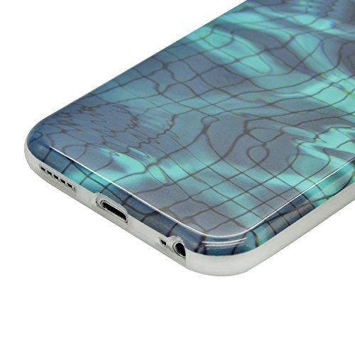 iPhone 7 Plus Marmor Hülle,iPhone 7 Plus Marble Case,Sunroyal Kreative Stylish Schickes Retro Elegant Schön Luxus Rot Granite Grain Stein Pattern Silikon Handyhülle Weiß Stein Glamour Ultradünn Marble Pattern 04