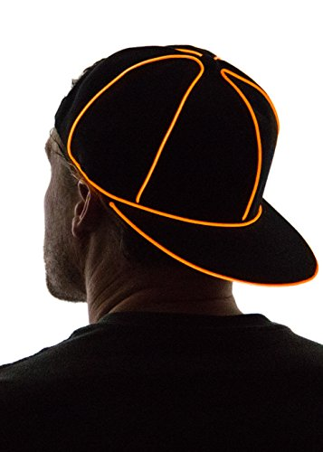NEON NIGHTLIFE Light Up Hysteresenhut - Orange (Light Up Hat)