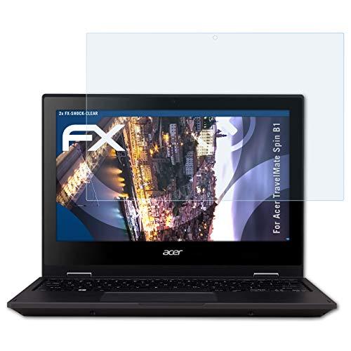 atFolix Schutzfolie kompatibel mit Acer TravelMate Spin B1 Panzerfolie, ultraklare & stoßdämpfende FX Folie (2X)
