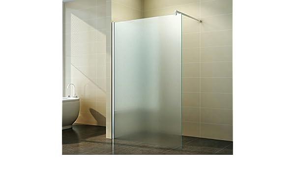 Schicke Duschwand freistehend aus Glas f/ür maximale Flexibilit/ät Duschabtrennung Walk in Vollsatiniert Milchglas Breite:120 cm Freiraum /& Komfort im Badezimmer