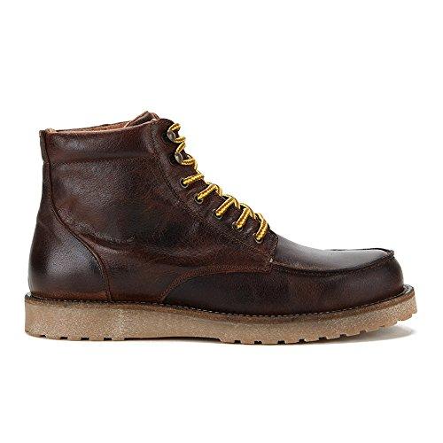 Jack & Jones - Jjgenton Leather Boot 1, Botines Para Hombre Marrón