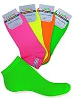 8 Paar Damen Sneaker Socken NEON - Echte Neonfarben - total trendy - Weiche TOP Qualität mit Elasthan von celodoro.