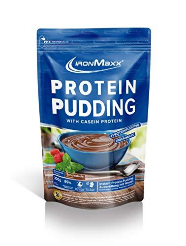 IronMaxx Protein Pudding mit 86% Eiweiß – Schokoladenpudding – Kohlenhydratarm – Fettarm – Zubereitung ohne Milch – Für Muskelaufbau und Muskelerhalt – 1x300g