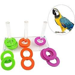 UEETEK Loro Puzzle Juguetes Bird Ring Toy Training Desarrollo de Inteligencia Rompecabezas interactivos Bird Educational Toys