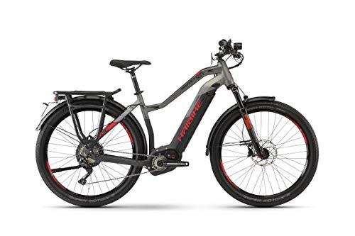 Haibike Sduro Trekking S 9.0 Damen Pedelec E-Bike Fahrrad grau/schwarz/rot 2019: Größe: XL