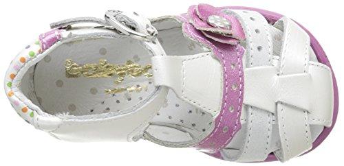 Babybotte Grillon, Chaussures Bébé marche bébé fille Blanc (009 Blanc Pois Multi)