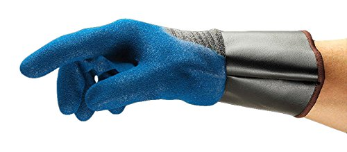Ansell HyFlex 11-948 Öl abweisende Handschuhe, Mechanikschutz, Blau, Größe 10 (12 Paar pro Beutel) -