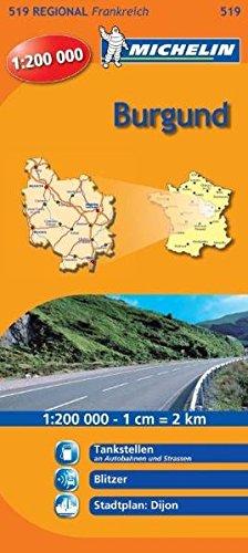 Burgund Frankreich Karte (Burgund (Michelin Regionalkarte))