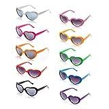 ONNEA Set Forma di Cuore Occhiali da Sole Festa per Uomo Donna (10 Pacco Multicolore)