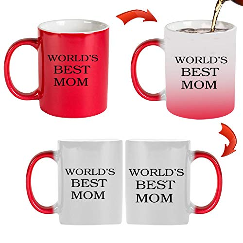 Mugs-XHPrint The World's Best Mother 11 oz mug Inside The Color Cup Color Changing Cup, The Best Gift Cup. Mother's Day Gift, Birthday Present.Multiple Colors to Choose from