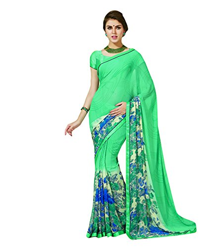 Subhash Sarees Pink Color Georgette Printed (Floral Print) Saree  available at amazon for Rs.1016