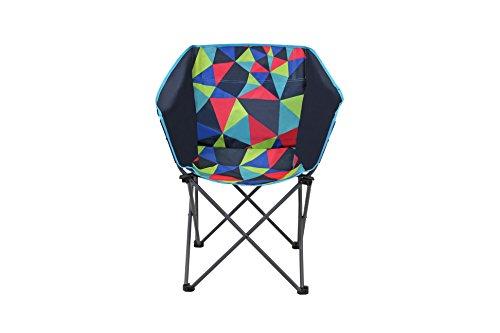 Portail extérieur Unisexe Electro Club Chaise de Camping Pliante, Multicolore, 44 x 45 x 44 cm