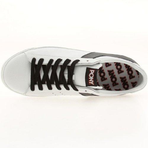 Pony Topstar Ox Leather, Sneaker donna Nero/Bianco