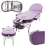 Massage Imperial® - tragbare Profi-Massageliege Consort - Aluminium - 7cm Schaumstoff Mit Hoher Dichte - Violett
