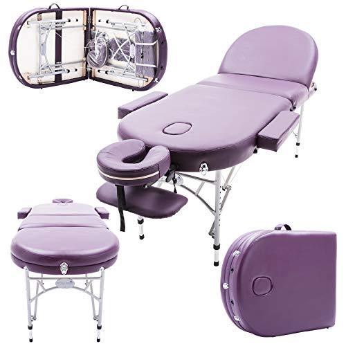 Massage Imperial® - tragbare Profi-Massageliege Consort - Aluminium 14kg - 7cm Schaumstoff Mit Hoher Dichte - Violett