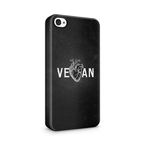 Peace Love Vegan Organic Food Eater Custodia Posteriore Sottile In Plastica Rigida Cover Per iPhone 7 Plus & iPhone 8 Plus Slim Fit Hard Case Cover Vegan Heart