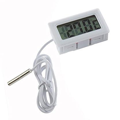 Gemini_mall® New Fish Tank Water Aquarium LCD Digital Thermometer (White) 1