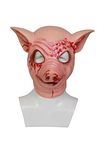 Mesky Schweinekopf Helm Cosplay und Halloween Maske Party -