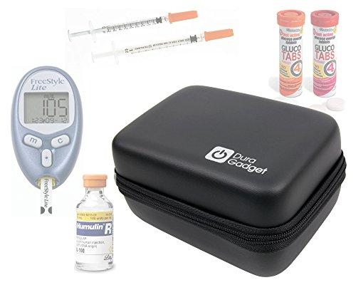 DURAGADGET Funda Rígida Para El Kit De Control De La insulina - Con Mini Mosquetón Transportar!