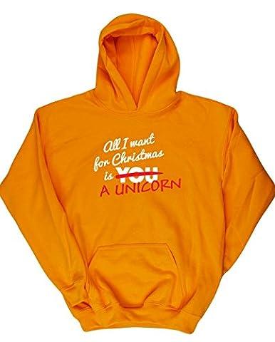 HippoWarehouse - Sweat-shirt à capuche - Fille - jaune - 11 ans