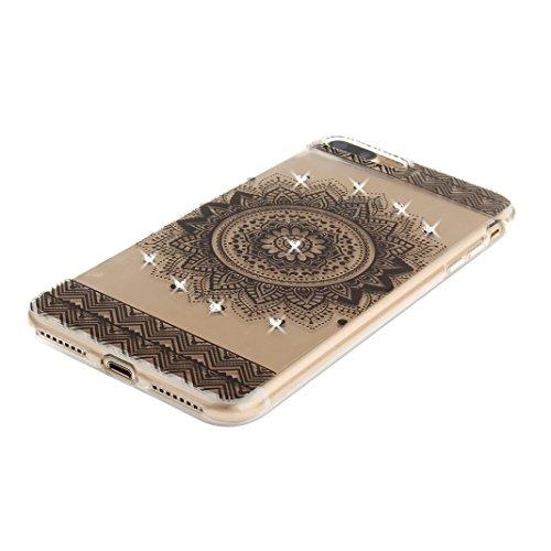 Housse iPhone 7 Plus Doux TPU, Coque iPhone 7 Plus Case, iPhone 7 Plus Arrière Etui, Moon mood® Ultra Mince 5.5 pouces Marbre Soft Flexible TPU Étui Téléphone Cellulaire Portable iPhone 7 Plus Silicon 3 Style-1