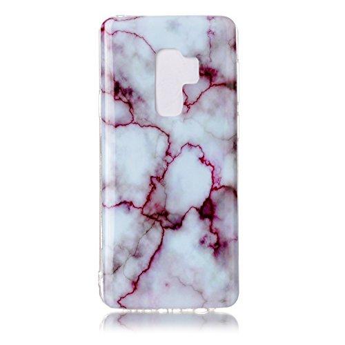 inShang Samsung Galaxy S9+ custodia cover del cellulare, Anti Slip, ultra sottile e leggero, custodia morbido realizzata in materiale del TPU, frosted shell , conveniente cell phone case per Galaxy S9 Rose marble