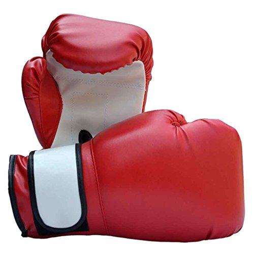 1 Paar Komfortable Design PU Leder Box Trainingshandschuhe Tragbare Atmungsaktive Boxhandschuhe Boxing Zubehör
