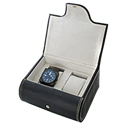 AXIS Two Watch Box case PU Leather With Felt Interior & Watch Cushions