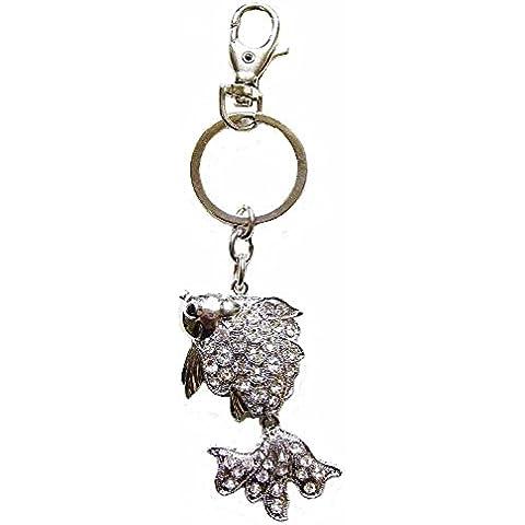Fish-Anello portachiavi con Diamante, catena gioielli moda a forma di regalo di compleanno - Fancy Gioiello