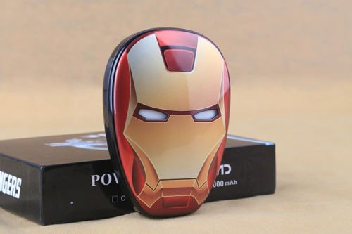Price comparison product image Iron Man Avengers 12000mah power bank mobile phone battery charger