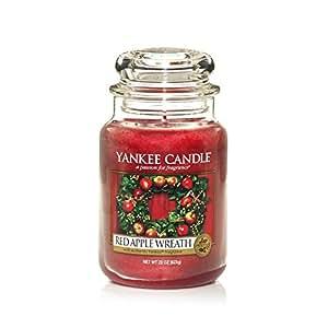 Yankee Candle Bougie parfumée Couronne de pomme) (Rouge), 1 pièce