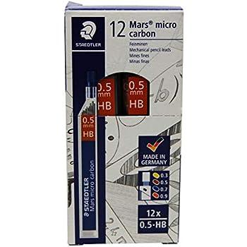 0,9 mm HB Mars micro carbon 250 STAEDTLER 4 tubetti mine di ricarica per matita a scatto 48 mine totali