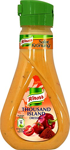 Knorr Salatkrönung Thousand Island Salatdressing Flasche, 6er-Pack (6 x 235 ml)