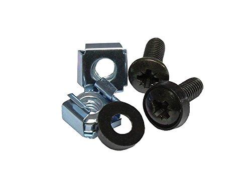 """Good Connections M6 Befestigungssatz, Schrauben 20 mm, 20er SET - zur Befestigung von Komponenten in der 10\"""" oder 19\"""" Ebene - schwarz"""
