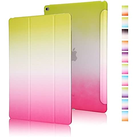 Highdas Ligero Funda Carcasa Colour serie del arco iris Smart Case Transparente Espalda Caso Stand Case para ipad air 2 con Imán incorporado para Sleep / Wake Característica Proteccion